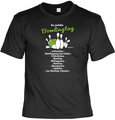 Bowling T-shirt-designs (Bowling T-Shirt - Geschenk Sportler : Der perfekt Bowlingtag - Goodman Design - Fun Sportshirt Gr: XXL Farbe: schwarz)