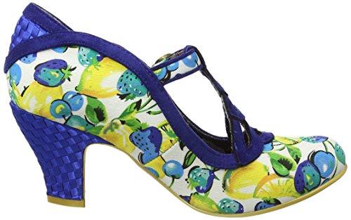 Irregular Choice Damen Nicely Done Pumps Blue (Navy Floral)
