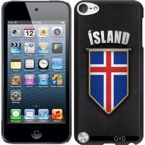 Leder Flip Case Tasche Hülle für Apple iPhone 6 Plus / 6S Plus - Island Wimpel Flagge by Carsten Reisinger Starre Kunststoff