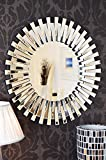 Venetian Design Mingling Slats Wall Mirror Diameter : 30 Inches