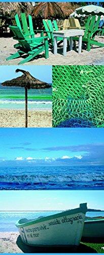 """TEXTILBANNER Wanddeko Textilbild Digital-Banner Fotoprint Sommer Poster """"Kreta"""" 75cm x 180cm"""