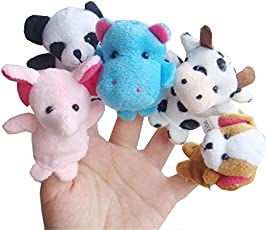 AtneP 50x Lilone Animal Finger Puppet, Multi Color (Pack of 50) | Birthday Return Gifts