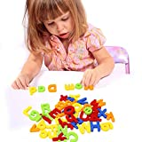 Tacobear Magnetic Letters and Numbers for Educating Kids Educational Toddlers Toys for Preschool Learning Alphabet Refrigerator Magnets 80 Pieces with Gift Pack
