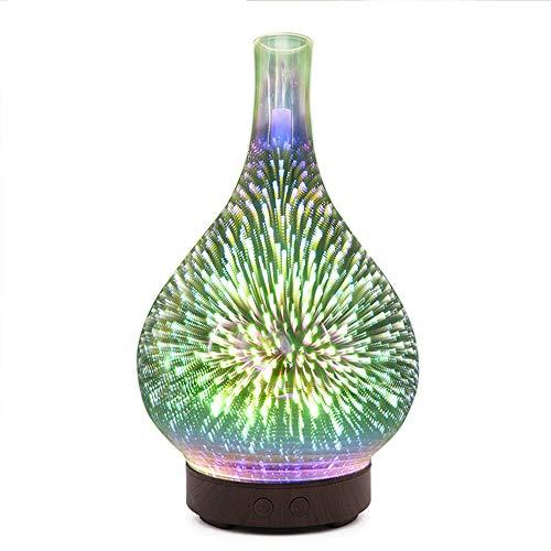 3D Lámpara De Mesa De Cristal, Aromaterapia Colorido De La Lámpara Florero Humidificador Creativos Del Hogar Aceite Esencial Esparcidor Luz De Fuegos Artificiales