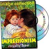 Impresionismo, más de 300 de alta resolución de imágenes digitales, libres de derechos de DVD Biblioteca