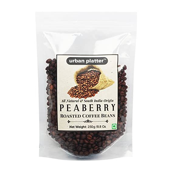 Urban Platter Roasted Indian Peaberry Coffee Beans, 250g