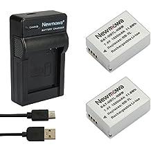 Newmowa NB-7L Batería (2-Pack) y Kit Cargador Micro USB portátil para Canon Powershot SX30 IS, G12, G11, G10