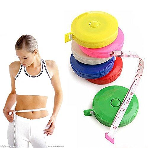 Soft Tape 152,4cm 1.5Meter Maßband, einziehbar Set Colorful für Kleid Makers Schneider