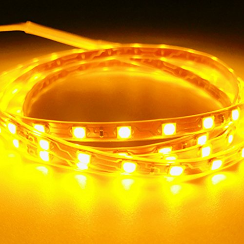Kingnew - Tiras de luz Flexibles Impermeables, 30 cm, 12 V, SMD, 15 LED, Color Amarillo