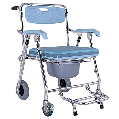 LIU UK Walker Multifunktions-Alter Mann-Stuhl/Reisender/Wanderer/Rutschfester Bad-Stuhl Vierradbremse kann gepumpt Werden Toiletten-Toilettensitz Größe: 57.5 * 60 * 90cm - Cookies Wanderer