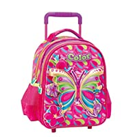 Kid's 3D Butterfly Small School Trolley Bag for 2-3years old - 12 Inch