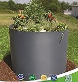 Hochbeet rund Ø100cm anthrazit RAL 7016 als Kräuterbeet Blumenbeet Gemüsebeet Pflanzbeet für Rasen Garten oder Park