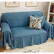 HM&DX Funda de sofá, con Volantes Respirable Durable Anti-Pilling Resistencia al Deslizamiento Color