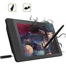 GAOMON PD1560 15.6 Pouces IPS HD Ecran Tablette Graphique Moniteur Stylet avec 8192 Niveaux de Pression et 10 Touches Personnalisables