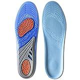 Kalak: GEL Semelles Sport Comfort Cuttable Semelles pour l'absorption des chocs (Hommes taille EUR 40-46,5)