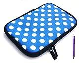 Emartbuy Paquete Paquete De Purple StylusY Los Lunares Azul/Blanco Resistente Al Agua Suave Funda De Neopreno Postal/Cubierta Adecuada Para Iriver Story Hd Ereader (7 Pulgadas Tablet/Ereader)