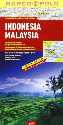 Indonesia, Malaysia 1:2.000.000 (Carte stradali Marco Polo)