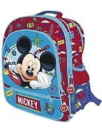 DISNEY MICKEY Sac a dos avec 4 zips Adaptable a un charriot trolley