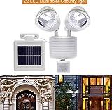 LED 2 Kopf Solar Sicherheit Wand Veranda Licht Sensor Lampe Außenbeleuchtung Wasserdichtes Äußeres Veranda Gartenleuchten Pavillon