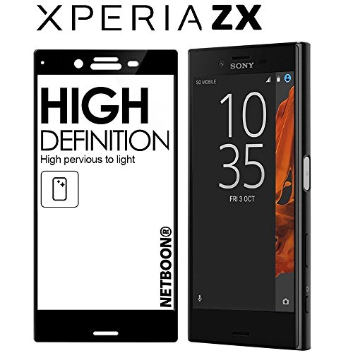 Netboon Tempered Gorilla Glass HD Clarity Screen Protector, 9H Hardness For Sony XZ - Black