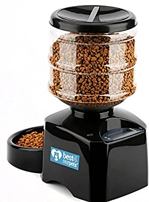 Best 4 Our Pets Automatic Pet Feeder - Dispenses the Correct Portion of Cat or Dog Food | Programmable Time Controlled to Help Control Weight and Keep Your Pet Healthy | Convenient for Travelers