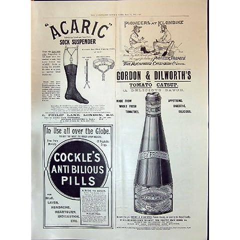 Cuori edule 1898 del Ketchup del Pomodoro di Gordon Dilworth della Bretella del Calzino di Acaric della Pubblicità