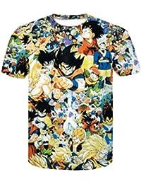 Camiseta Dragon Ball Niño Unisex Hombres Mujer 3D Impresión Camisetas y  Camisas Deportivas Camisetas de Manga 2634d00af192f