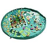 Kangaroobaby Aufbewahrungsbeutel Organizer Kinder Aufräumsack Spieldecke Spielzeug Aufbewahrung (60, grün)