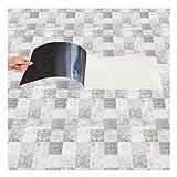DMMASH Wandaufkleber Boden Aufkleber PVC Schwarz und Weiß Gitter Simulation Fliesen Aufkleber