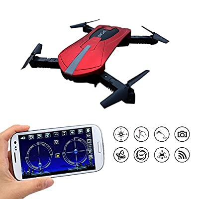 Kingtoys WIFI FPV Portable Drone Quadcopter with 2MP HD Camera APP Control Drone 2.4 GHz 3D Flip Mini Quadcopter Headless Pocket Helicopter Drone from Haibei