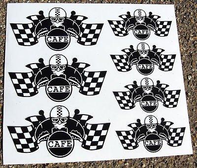 CAFE RACER Bandiera A Scacchi set casco adesivi (Bandiera A Scacchi Set)
