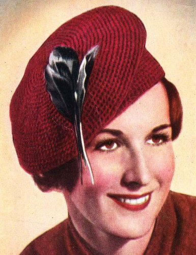 CROCHET TAM BERET PATTERN NO. 302 Crocheted Hat (English Edition) -