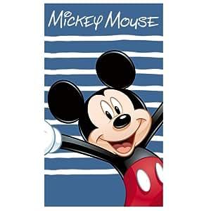 CTI 041398 Strandtuch Disney Mickey Happy, Velours, 70 x 120 cm