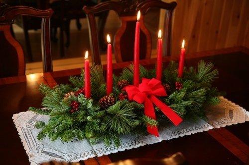 Captivating Centrotavola Di Natale Con Candele