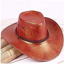 Philip Peacoc 2018 Summer American Wind Great Western Cowboy Hat Sombrero de  Caballero de Cuero Gorra caadfd0d7bd