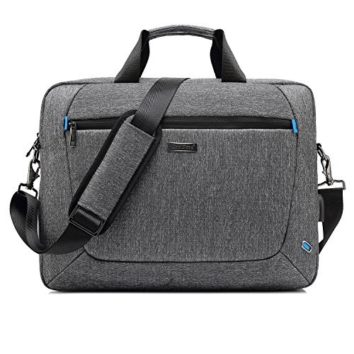 UtoteBag 17,3 Zoll Laptop Tasche Businesstasche Umhängetasche Messenger Bag Männer Notebooktasche Laptoptasche für Notebook Computer Business Aktentasche Herren,Grau