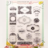 Kofun DIY Scrapbooking Transparent Briefmarken Silikon Gummi Klar Blatt DIY Karte Geschenk Handwerk Rahmen