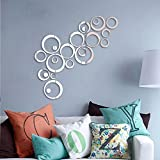 #4: Saifee Acrylic 3D Home & Office Décor Wall Sticker (Circles, 36 Pcs)