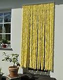 Türvorhang Flauschvorhang Insektenschutz Chenille 100x200 cm gelb/weiss