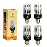 4×GreenSun LED E27 Fassung 12W Mais Birne Beleuchtung SMD2835 128LEDs Leuchtmittel Corn Light Dimmable(100%-50%-25%) Kühlesweiß Energiesparlampe für Wandlampen, Tischlampen, Deckenlampen 220V-240V
