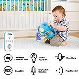 Willcare Babyphone mit Gegensprechfunktion, Baby-Einheit Nachtlicht bis zu 300m Grosse Reichweite, Geräuschpegel-Anzeige & Batteriebetrieben Die Eltern-Einheit,DBM-6 … (1RX+1TX) - 3