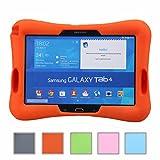 NEWSTYLE Samsung Galaxy Tab 4 10.1 Kinderfreundliche Silikon Hülle Schutzhülle Tasche Case für Samsung Tab 4 SM-T530/T531/T535 Tab 3 GT-P5200 P5210 P5220 (10,1 Zoll) - Orange