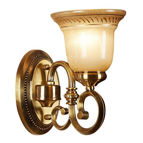 SKC Lighting-Applique murale Lampe murale en alliage de zinc de style européen, évier, balcon, balcon, couloir, extérieur, jardin, chevet, lampe de chevet ( taille : Seule tête )