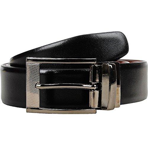 POLLSTAR Men's Genuine Leather Luxury Stylish Formal Belt with Reversible Buckle (BT104)