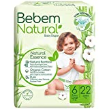 Bebem Natural Extra Large Baby Diapers, Size 6-22 Pieces