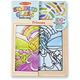 Melissa & Doug Stained Glass Made Easy Activity Kit, Princess (Arts and Crafts, Develops Problem Solving Skills, 100+ Stickers)