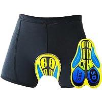 Oleein 3D Fahrradhose Gepolstert Atmungsaktiv Radhose Unterhose Kurz Hose Shorts 3D Gel Pad für Herren Anti-Shock Breathable Fahrradhose Shorts