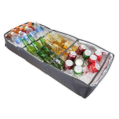 duraviva isoliert Party Essen und Trinken Serviertablett tragbar faltbar Kühler für Getränke, Buffet, Picknick, BBQ, Salat Meeresfrüchte Bar