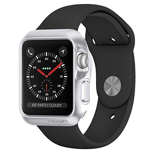 Spigen Slim Armor Case / Cover Designed for Apple Watch (42mm) (Series 1/ Series 2 / Series 3) (Apple Watch Not Included) - Silver SGP11505