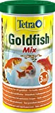 Tetra Pond Goldfish Mix, Hauptfuttermischung für die tägliche Fütterung aller Goldfische im Gartenteich, 1 L